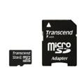 Transcend 32 GB microSDHC class 2 + SD Adapter