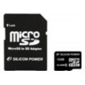 Silicon Power 16 GB microSDHC Class 6 + SD adapter