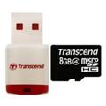 Transcend 8 GB microSDHC class 2 + P3 Card Reader