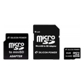 Silicon Power 8 GB microSDHC Class 4 + 2 adapters