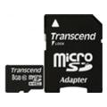 Transcend 8 GB microSDHC class 10 + SD Adapter TS8GUSDHC10
