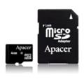 Apacer 4 GB microSDHC Class 4 + SD adapter AP4GMCSH5-R