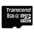 Transcend 8 GB microSDHC class 4 + SD Adapter TS8GUSDHC4