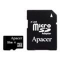 Apacer 32 GB microSDHC Class 4 + SD adapter AP32GMCSH4-R