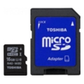 Toshiba 16 GB microSDHC Class 10 UHS-I + SD adapter SD-C016UHS1