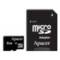 Apacer 8 GB microSDHC Class 10 UHS-I + SD adapter AP8GMCSH10U1-R