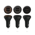 Ozaki O!tool Dual Car Charger Leather (OT281LBK)
