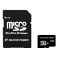 Silicon Power 4 GB microSDHC Class 4 + SD Adapter SP004GBSTH004V10-SP