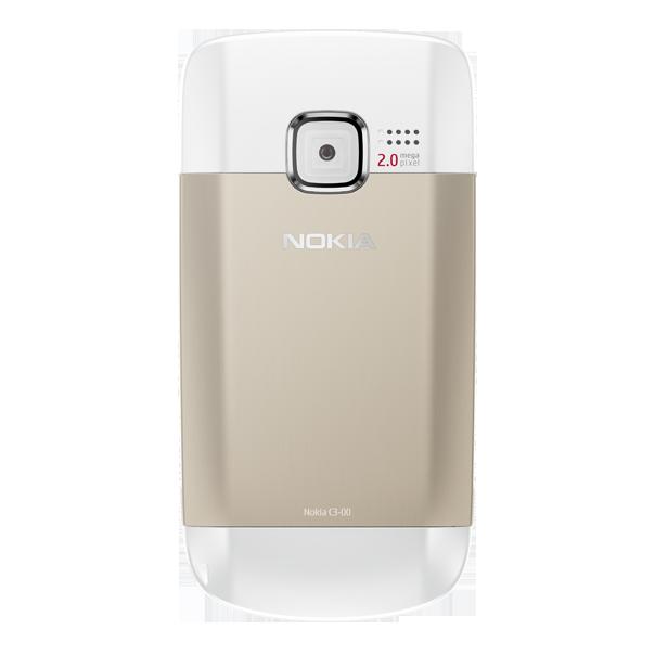 Nokia C3 Gold BackNokia C3 Gold