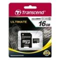Transcend 16 GB microSDHC class 10 + SD Adapter TS16GUSDHC10
