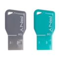 PNY 8 GB Key Attache Twin Pack (FDU8GBKEYCOLX2-EF)