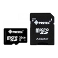 Pretec 32 GB microSDHC Class 10 UHS-I + SD Adapter STSH32G-SA