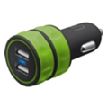 Urban Revolt Dual Smart Car Charger Lime (20158)
