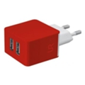 Urban Revolt Dual Smart Wall Charger Red (20149)