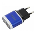 Toto TZV-41 Led Travel charger 2USB 2,1A Blue (TZV-41-Bl)