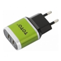 Toto TZV-41 Led Travel charger 2USB 2,1A Green (TZV-41-Gr)