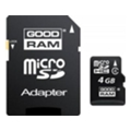 GoodRAM GOODRAM 4 GB microSDHC class 4 + SD Adapter