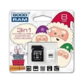 GoodRAM 8 GB microSDHC class 4 Xmas pack USDR48GBR9+X