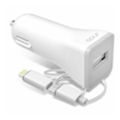 Golf GF-C3 Car charger + 2 in 1 cable 1USB 2,1A White
