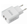 Toto TZV-45 Travel charger 2USB 2,1A White (TZV-45-Wt)