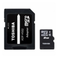 Toshiba 8 GB microSDHC class 4 + SD adapter THN-M102K0080M2