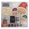 GoodRAM 16 GB microSDHC class 4 Xmas pack USDR416GBR9+X