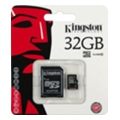 Kingston 32 GB microSDHC class 10 + SD Adapter SDC10/32GB