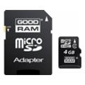 GoodRAM 4 GB microSDHC class 4 + SD Adapter SDU4GHCAGRR10