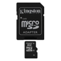 Kingston 8 GB microSDHC class 4 + SD adapter SDC4/8GB