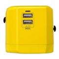 Momax 1 World USB Travel Adapter AC port (UK/EU/US/JP/CN/AU) Yellow (UA1Y)