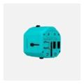 Momax 1 World USB Travel Adapter AC port (UK/EU/US/JP/CN/AU) Blue (UA1B2)